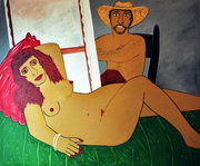 the Odalisca,68x56 inch,acrylic on canvas.FranciscoVidal.2010
