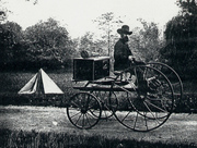 photographers wagon and tent