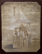 Carpenters at Sketty Church Salt Print