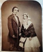 Marriage Photo? 1850's albumen or varnished salt print