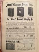 Adams Best Bag Changing Box advert - 1905