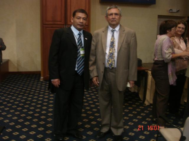 Con el Director Ejecutivo del CREAD