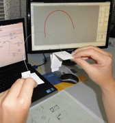 Bending steel wire with Fiducial Markers.