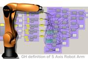 5 axes robot arm controller, Arduino, Grasshopper and Firefly