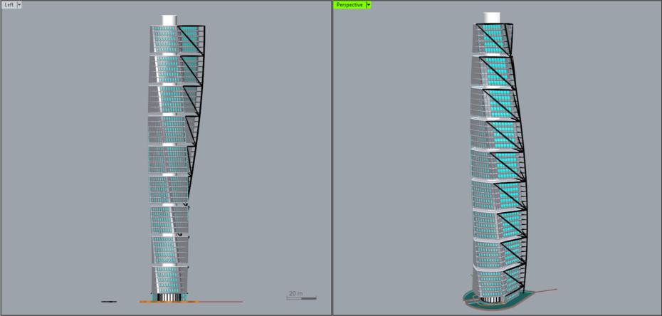 Turning Torso Model View 2