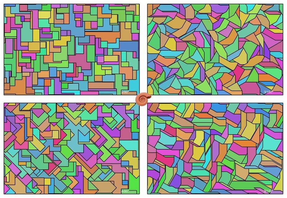 Tesselations with constant angles between craks