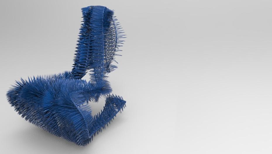 spiky chair