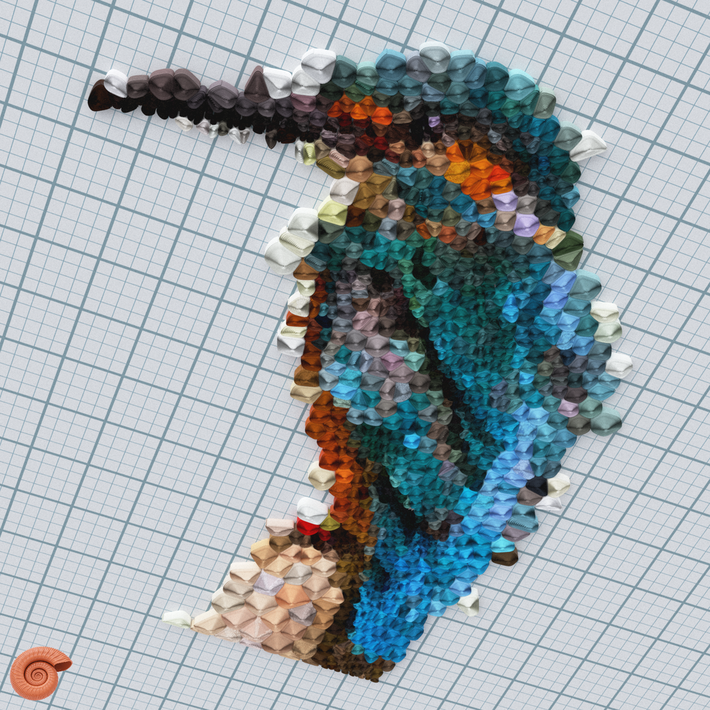 Quilling Kingfisher