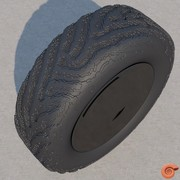 Tyre with directional reaction diffusion