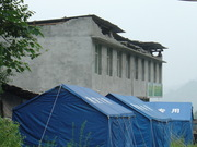 Temporary housing after earthquake