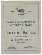 1920's Lockwood Brothers, Sheffield, England Cat.
