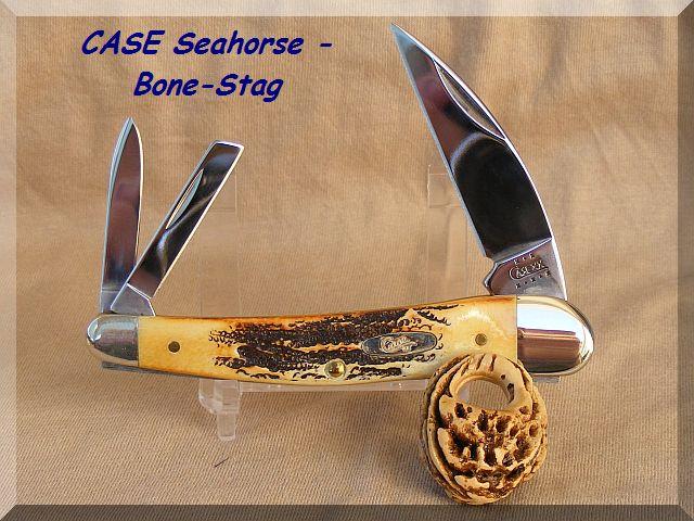 CASE Seahorse - Bone-Stag