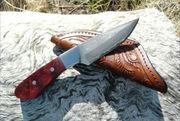 Amboyna Burl Drop Point TAU Custom knives