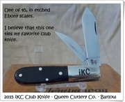 2015 iKC Club Knife.
