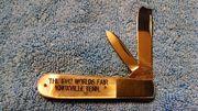 Taylor Cutlery Mother of Pearl Razor Barlow '82 Worlds Fair 1