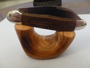 Cherry wood knife stand .