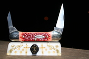 Queen Cutlery Jigged Cherry Bone Canoe Version II