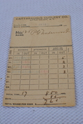1921 time card