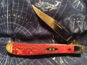 Slimline Trapper w/Red sycamore scales