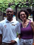 Con el maravilloso personal del hotel en Mombasa 2012