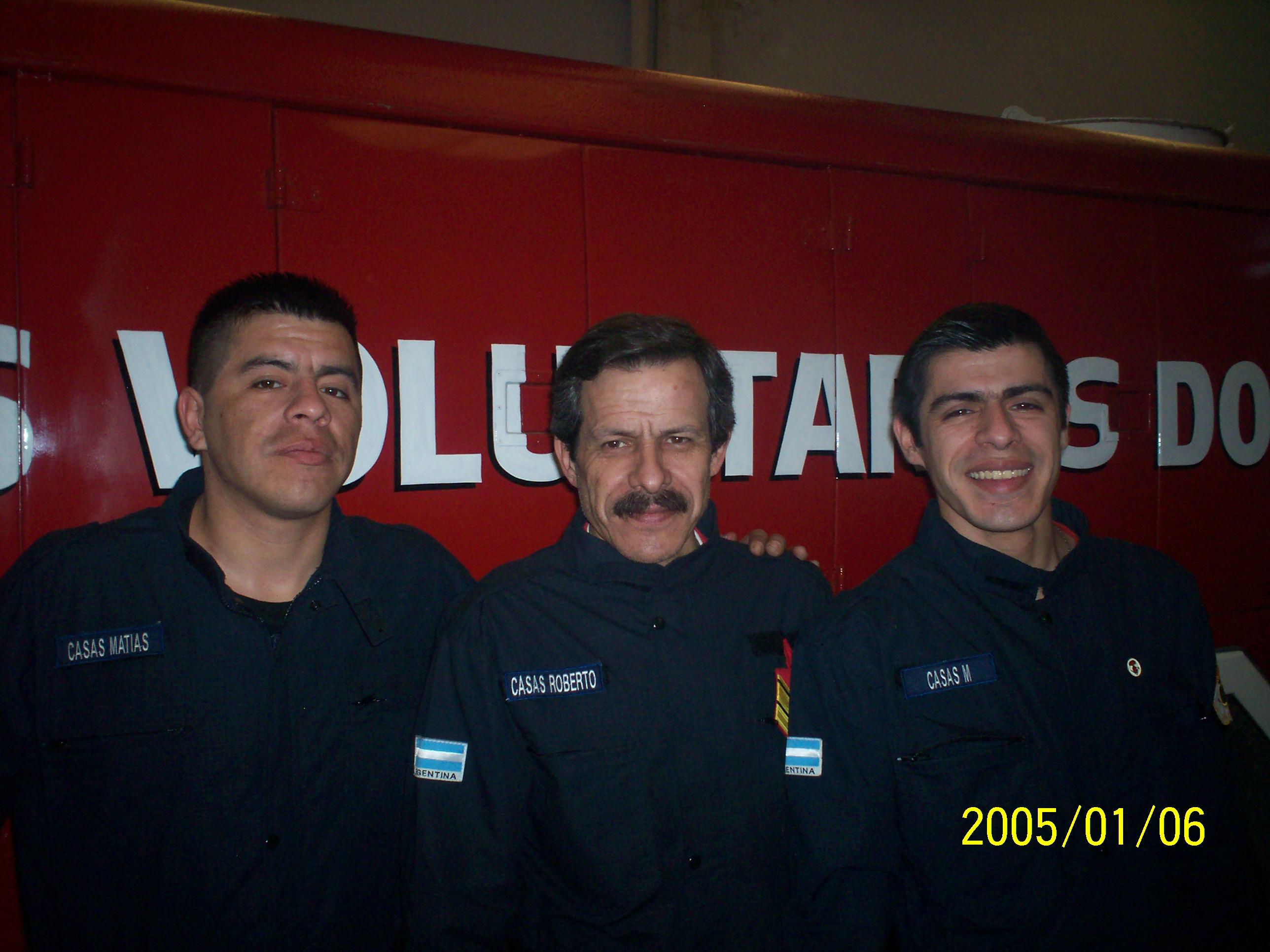 mi hermano, papa y yo