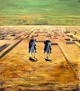 Zwei Reiter in der Wüste