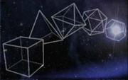 five platonic solids in  space
