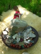 BIG HUG Crystal and Stone Grid at our pond - April 28th, 2012