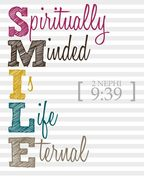 SMILE sprititually minded is life eternal