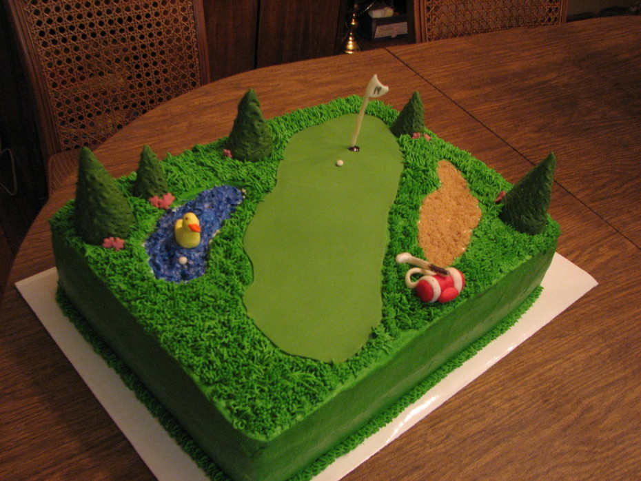 Surprising Golf Birthday Cake Cake Decorating Community Cakes We Bake Funny Birthday Cards Online Alyptdamsfinfo