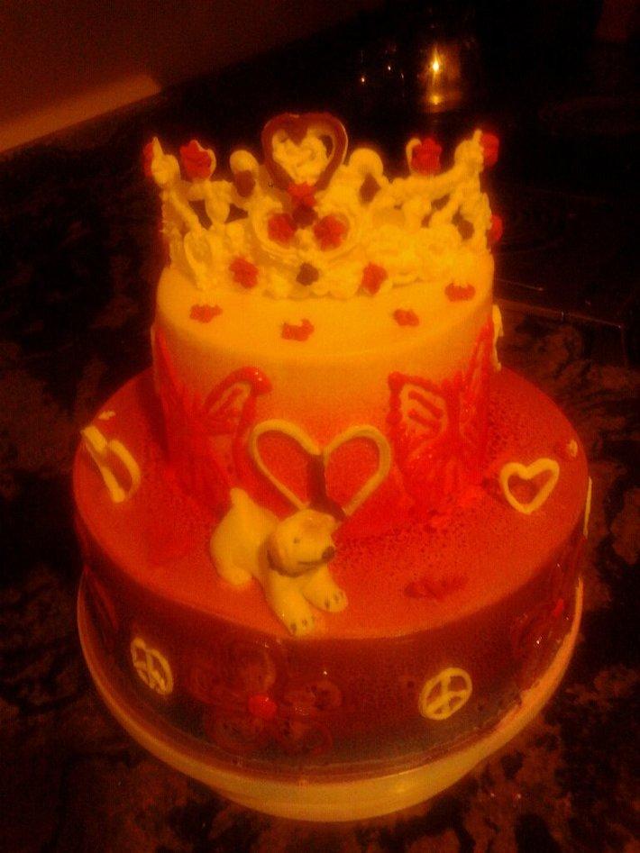 Princess doggie cake
