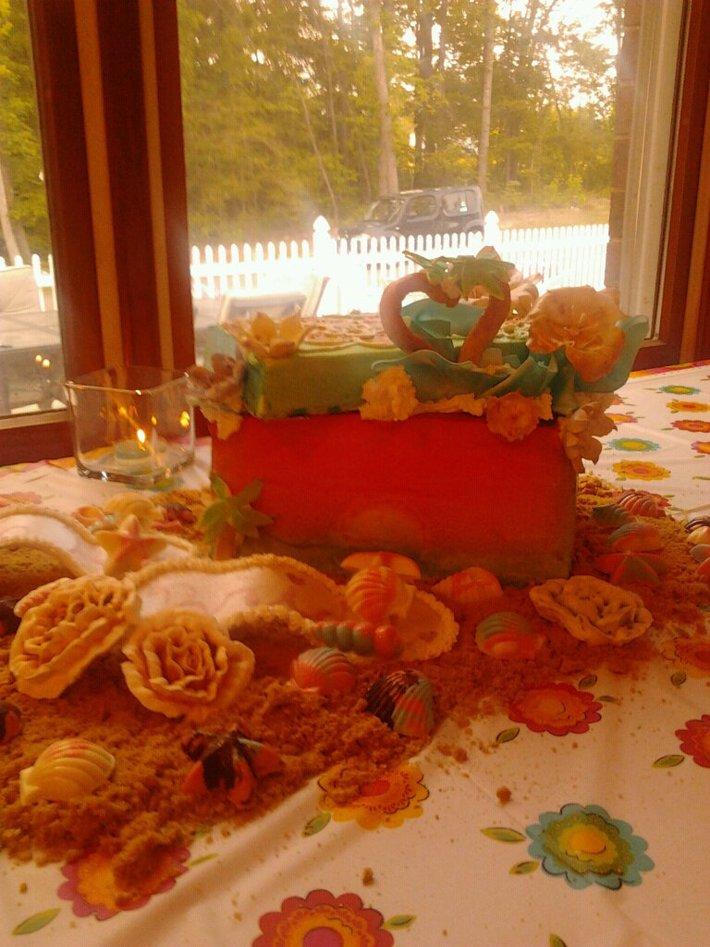 Bridal Shower shoebox cake