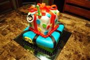 Monkey Boy's First Birthday Cake