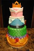 Disney Princess Gown Cake
