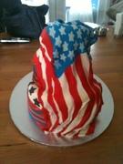 Surf Bagel 4th of July Cake