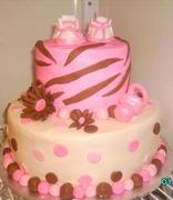 girl baby shower cake.