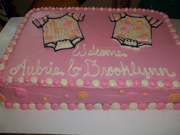 A Welcome Cake for the Twins; a side view