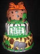 Tiered Safari Themed Cake