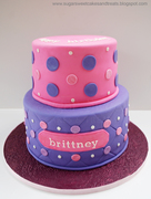 Pink and Purple Polka Dot Cake
