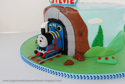 Thomas the Train Cake (closeup)