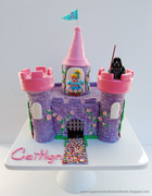 Princess Castle Cake with Darth Vader & Cinderella