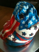 Surf Bagel's 4th of July cake4