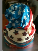 Surf Bagel's 4th of July cake3
