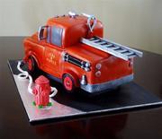 Mater firetruck back view