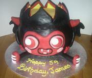 Mushi Monster 'Diavlo' cake