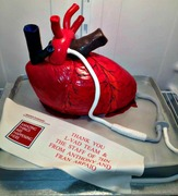 Human Heart Cake with an LVAD unit