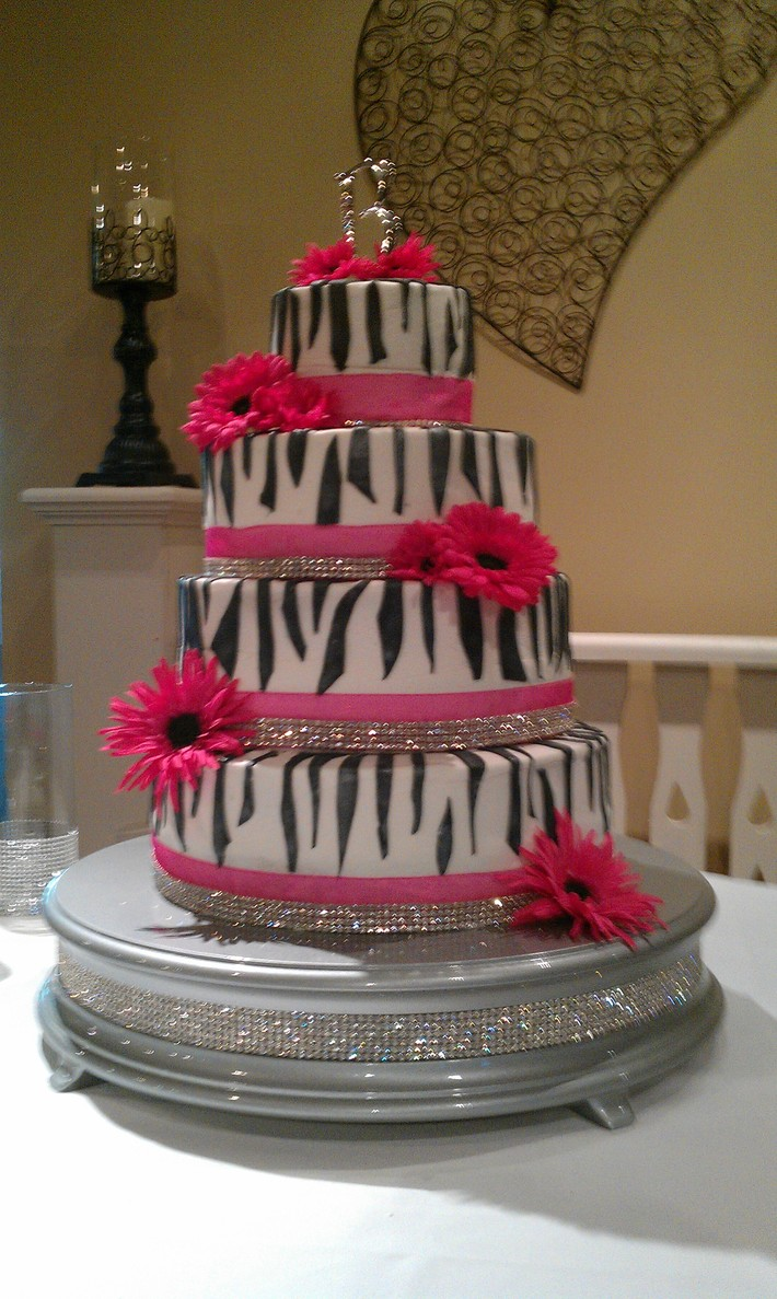 zebra Wedding cake