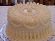 White icing on White cake, Red Velvet cake