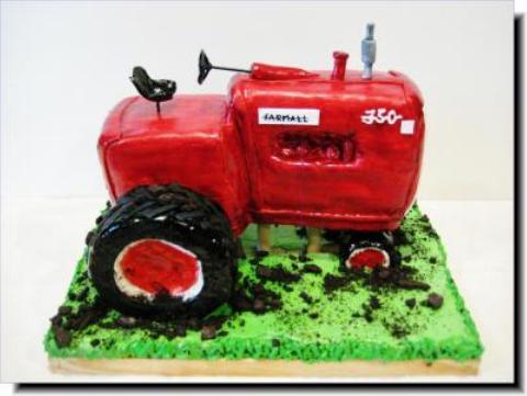 Awesome Tractor Birthday Cake Cake Decorating Community Cakes We Bake Personalised Birthday Cards Beptaeletsinfo