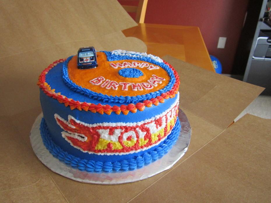 Hot Wheels Cake (the flame)